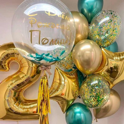 Шарики на день рождения золотые