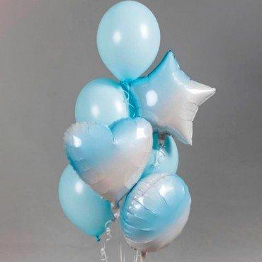Шарики воздушные в голубых тонах