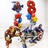 Украшение шариками на день рождения мальчика супер героями на 8 лет