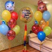 Композиция из воздушных шаров Фиксики Симка и Нолик