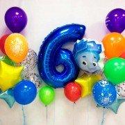 """Набор гелиевых шаров на день рождения Фиксики """"Нолик"""""""