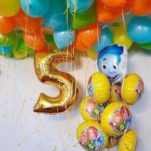 Набор шаров на день рождения Фиксики