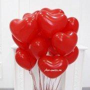 Шарики для влюбленных Красные сердца