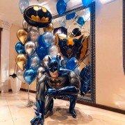"""Комплект шаров """"Поздравление от Бэтмена"""""""