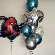 Комплект шаров с Человеком пауком в стиле супергерои