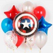 """Композиция шаров супергерои """"Щит Капитана Америка"""""""