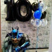 """Набор шаров для мальчика на 10 лет """"Супергерои"""""""