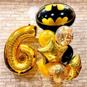 Шарики на 6 лет с эмблемой Бэтмен