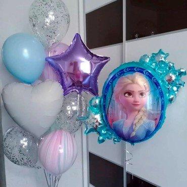 Комплект воздушных шариков с Эльзой Холодное сердце