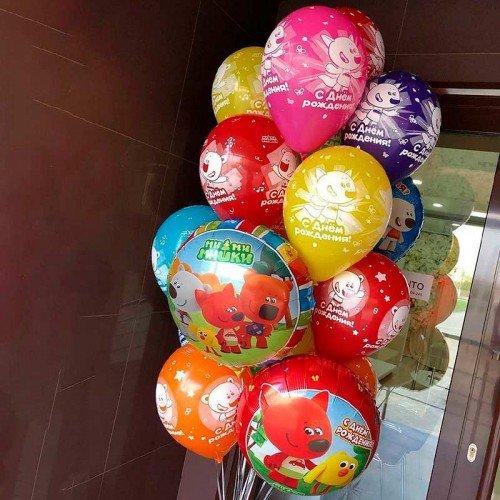 Комплект из воздушных шариков с мишками мимимишками