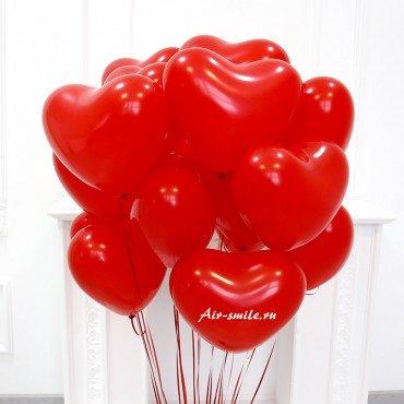 Гелиевые шарики в виде сердец
