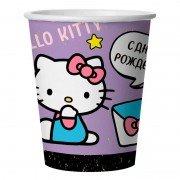 Стаканы (250 мл) Hello Kitty, С Днем Рождения!