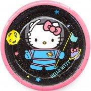 Тарелки бумажные (7''/ 18 см) Hello Kitty, С Днем Рождения!