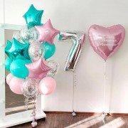 Композиция из шаров для девочки на 7 лет