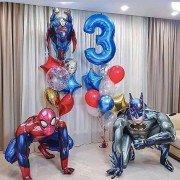 """Набор шаров на день рождения супергерои """"Кто круче"""""""