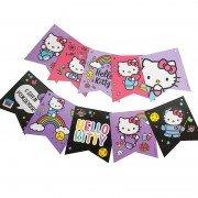 Гирлянда Флажки, Hello Kitty, С Днем Рождения!