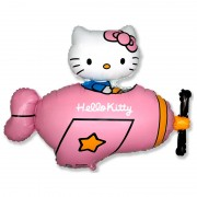 Воздушный шар Hello Kitty Котенок в самолёте