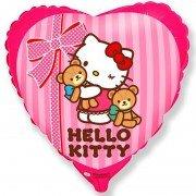 Воздушный шар Hello Kitty Сердце, Котенок лучшие друзья