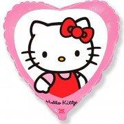 Воздушный шар Hello Kitty Сердце, Котенок с бантиком, Розовый