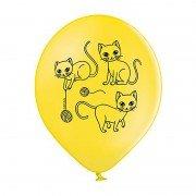 """Воздушные шарики """"Котики с клубочками"""""""
