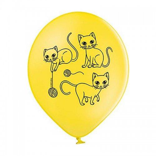 Шарики воздушные с картинками котиков