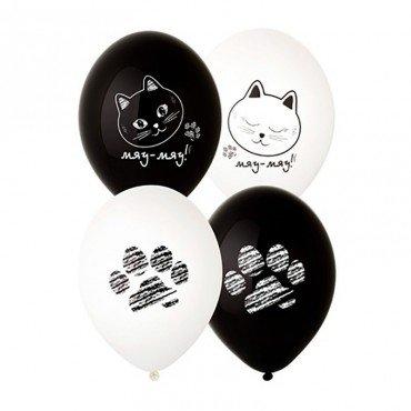 Воздушные шары с картинками котиков и их лапок