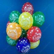 """Воздушные шары """"С Днем Рождения"""" конструктор Лего"""