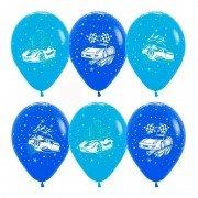 Воздушные шары с изображением машинок для мальчиков