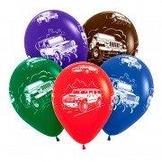Воздушные шары с изображением машинок внедорожников