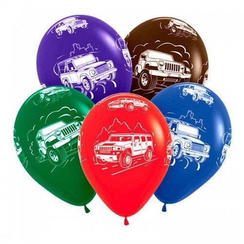 Воздушные шарики на праздник с машинками внедорожниками