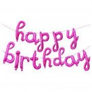 "Набор шаров-букв мини-надпись ""Happy Birthday"" розовые 43 см"