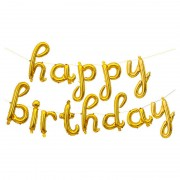 """Набор шаров-букв мини-надпись """"Happy Birthday"""" золотые 43 см"""