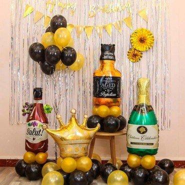 Комплект воздушных шаров на новый год праздничное настроение