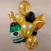 """Набор шаров на новый год """"Шампанское"""""""