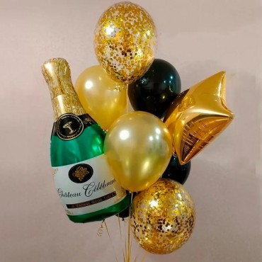 Набор шариков новогоднее шампанское