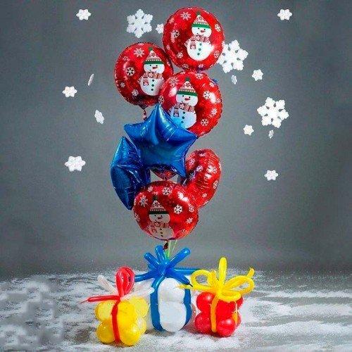 Набор шариков новогодний подарок
