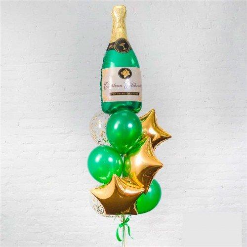набор шариков воздушных на новый год с шампанским