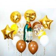 """Новогодний комплект шаров """"Игристое шампанское"""""""