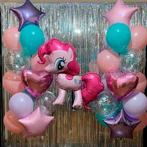 Комплект шаров с пони на праздник
