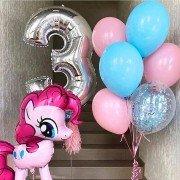 """Набор шаров на 3 года """"Веселая Литл Пони"""""""