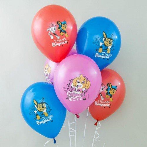 Шары воздушные щенячий патруль с днем рождения