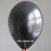 Шарик металлик чёрного цвета c гелием