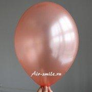 Шарик металлик цвета розовое золото
