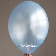 Шарик металлик голубого цвета c гелием