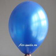 Шарик металлик королевского синего цвета c гелием