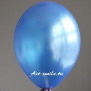 Шарик металлик синего цвета c гелием