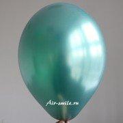 Шарик металлик насыщенного зелёного цвета c гелием