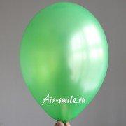Шарик цвета зелёный лайм металлик c гелием