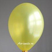 Шарик металлик жёлтого цвета c гелием