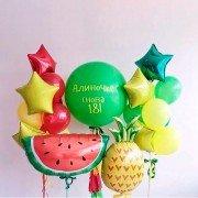 """Комплект шаров на день рождения """"Фруктовый"""""""